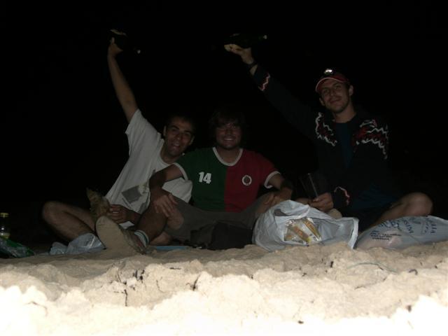 de fiesta en la playa